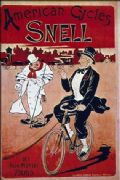 Vintage cycling poster - American cycles, Snell